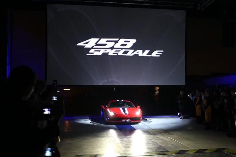 Ferrari 458 Spéciale Unveiling